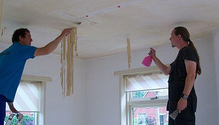nicotine aanslag verwijderen plafond materialen voor